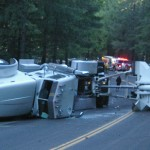 Big Rig Accident Closes Hwy 20