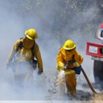 Collins Lake Fire near Containment