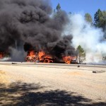 Fiery Crash on Hwy 20