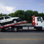 Vehicles Towed on Highway 49 near River