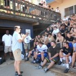 Retired NFL Players visit the NU Miners