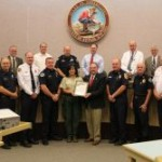 Fire Chief Fike Honored by County