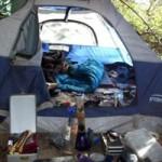 Homeless Camper Arrested on Alleged Drug Charges
