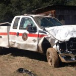 NSJ Fire Rescue Truck Totaled