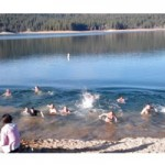 New Years Dip at Scotts Flat Lake