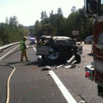 Accident Northbound 49 at Alta Sierra Thursday Afternoon