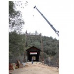 Steel Work Begins On Covered Bridge