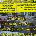 Sierra Presbyterian Annual Yard Sale Friday-Saturday
