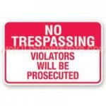 NC Landowner to Invoke No Trespassing Laws