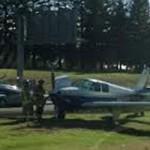 Plane Lands on Highway 65