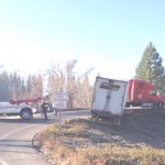 Big Rig Causes Morning Traffic Delay in Grass Valley