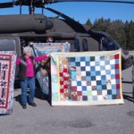 Blackhawk Helicopter Delivers Quilts for Soldiers