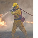 Vegetation Fire Threatens Homes Campground