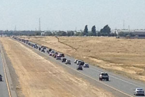Military escort on HWY65