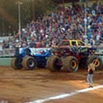 Monster Truck Show Attendees Get Surprised