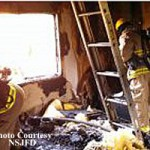 Modular House Burns in NSJ