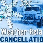 Program Cancellations Due to Weather- UPDATE 10:30 Saturday