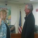 Lamphier Takes Oath at City Hall