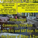 Sierra Presbyterian Annual Yard Sale Friday-Saturday