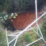 Grass Valley Sinkhole Closes Lane of Highway 49