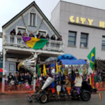 Crowd Gathers for NC Mardi Gras Parade