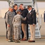 Trump Visits Beale Air Force Base, Fire Zone