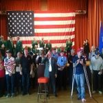 An Estimated 400 Turn Out For Veterans Ceremony