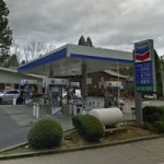 Nevada City Gas Station Sign Dimmed